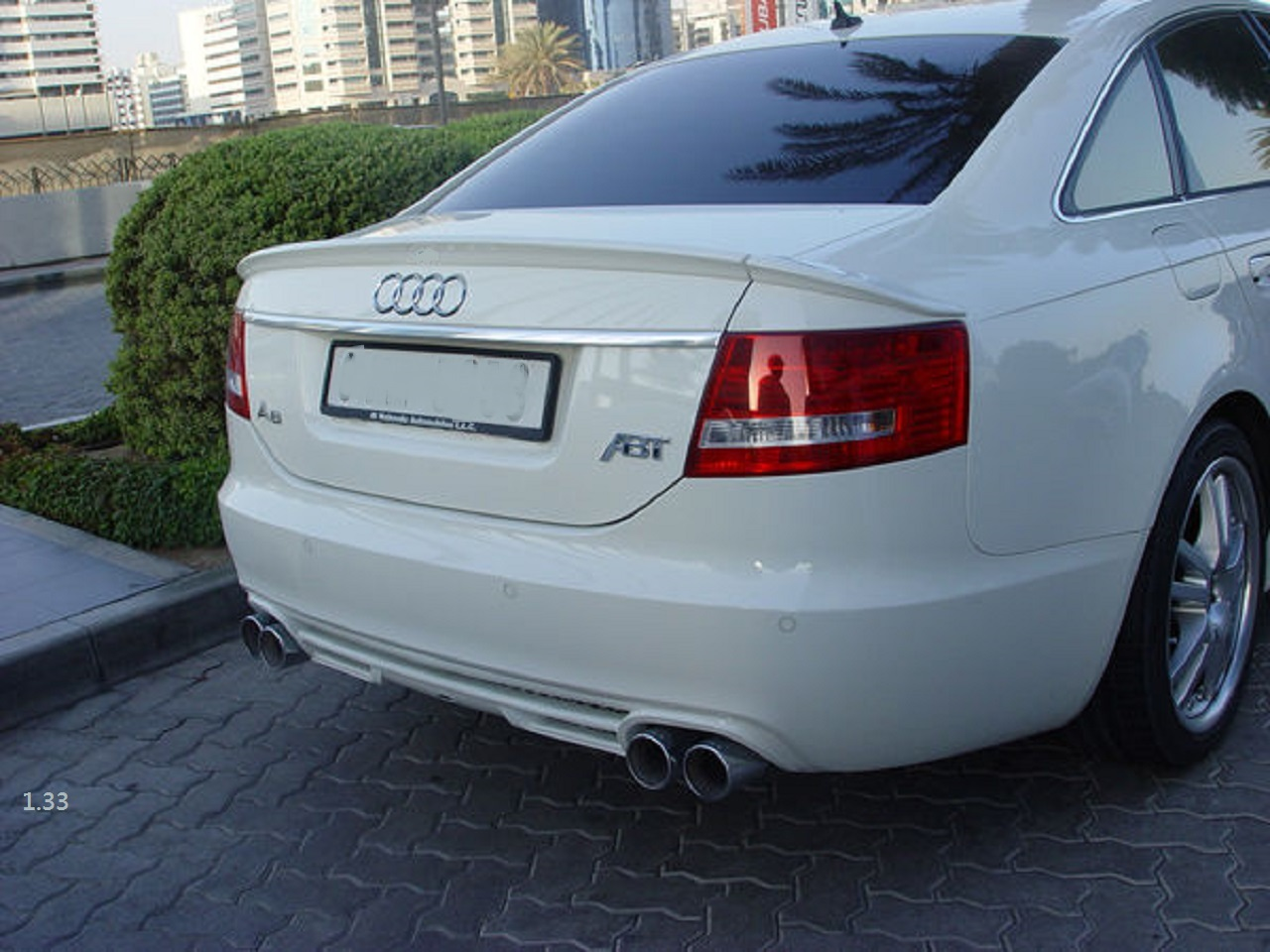 Rear Trunk Spoiler For Audi A6 C6 Abt Type Saloon 2004