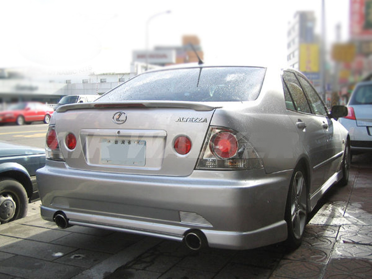 painted process trunk spoiler for lexus is200 is300 1998. Black Bedroom Furniture Sets. Home Design Ideas